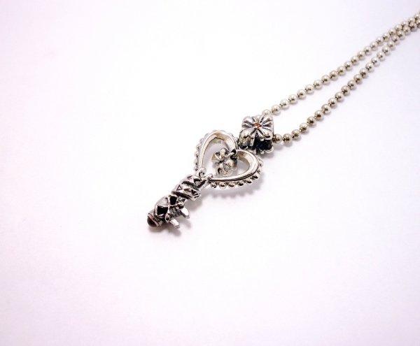 画像1: Key Pendant with Chain(ガーネット)【DEVAROSE】