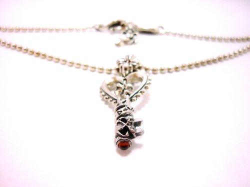 他の写真2: Key Pendant with Chain(ガーネット)【DEVAROSE】