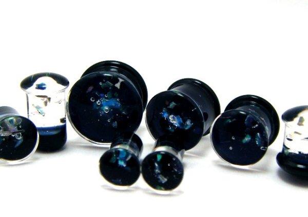 画像1: CLOVER GLASS OPAL PLUGS クローバーグラス オパール プラグ ガラスピアス ボディピアス ハンドメイド 手作り メンズ レディース