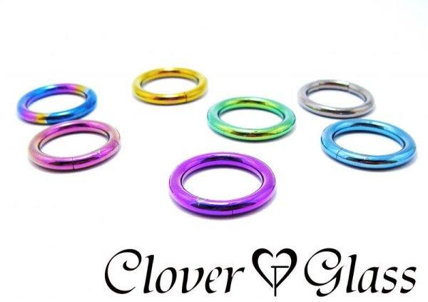 画像1: CLOVER GLASS Titanium Segment Ring 12Ga CG-T-BCS12 クローバーグラス ボディピアス チタン セグメントリング メンズ レディース