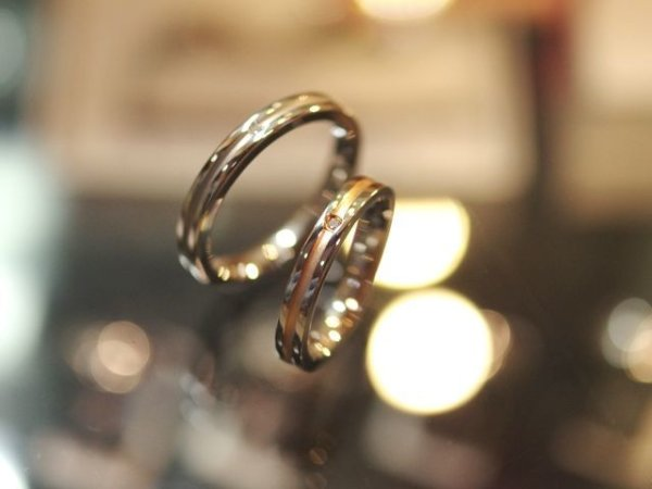 画像1: 【ペアリング】 Vie ヴィー シンプルダイヤモンドリング R1092 メンズ レディース 金属アレルギー対応
