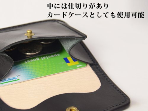 他の写真2: GOD FISH ゴッドフィッシュ GF-C コインケース ブラック ミシンソーイング 小銭入れ