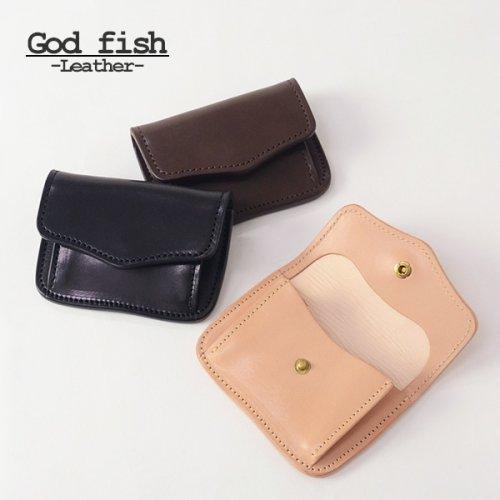 他の写真3: GOD FISH ゴッドフィッシュ GF-C コインケース チョコレート ミシンソーイング 小銭入れ