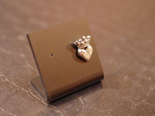 他の写真2: CLOVER925セレクト ハートクラウンピアス(ダイヤモンド付き) シルバーピアス CLSLCT-E001DIA