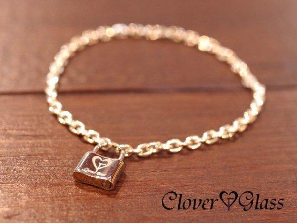 画像1: クローバーグラス パドロック・ブレスレット 南京錠ブレスレット CLOVER GLASS Padlock Bracelet CGB-01 CLOVER925オリジナルブレスレット