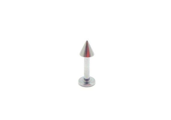 画像1: 【ネコポス発送可】Labret with Cone 16G/14G コーンタイプ・ラブレット ボディピアス BLSN