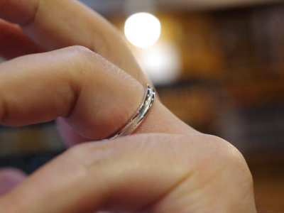 画像3: CLOVER Original Cross Line Pair Rings/Silver925 ペアリング